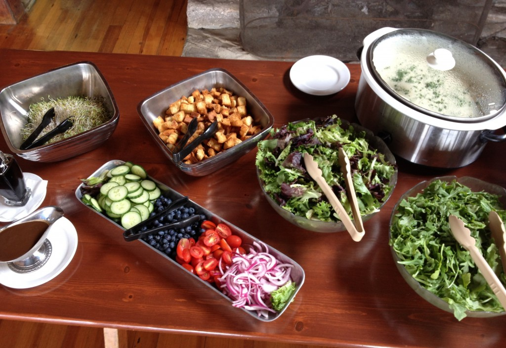 To accommodate an increasing number of special diets, Linekin Bay Resort no longer plates salads and instead allows guests to build their own.
