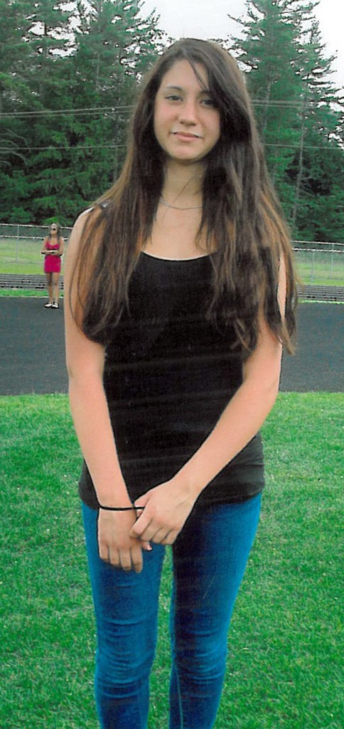 In a photo released by Conway, N.H. police is 14-year-old Abigail Hernandez of North Conway, N.H. Officials are searching for the missing girl who was last seen Wednesday afternoon leaving school.