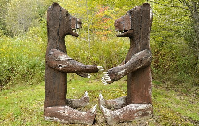 """The Portland Public Art Committee is encouraging input from residents to help place these larger-than-life bears created by the late Maine sculptor Bernard """"Blackie"""" Langlais. His best-known piece may be a 62-foot–tall Abenaki Indian that towers over Skowhegan."""