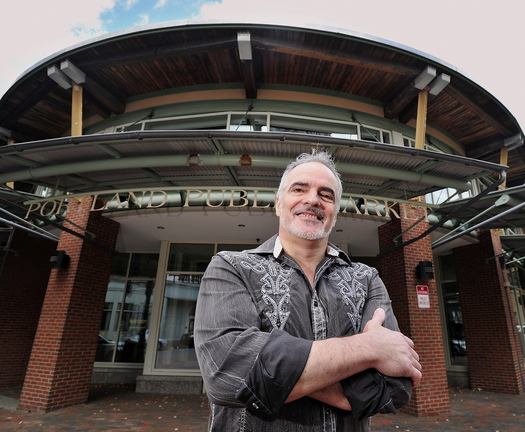 Stephen Lanzalotta poses Monday in front of the former Portland Public Market, where he and four business partners will open a 75-seat restaurant next spring.