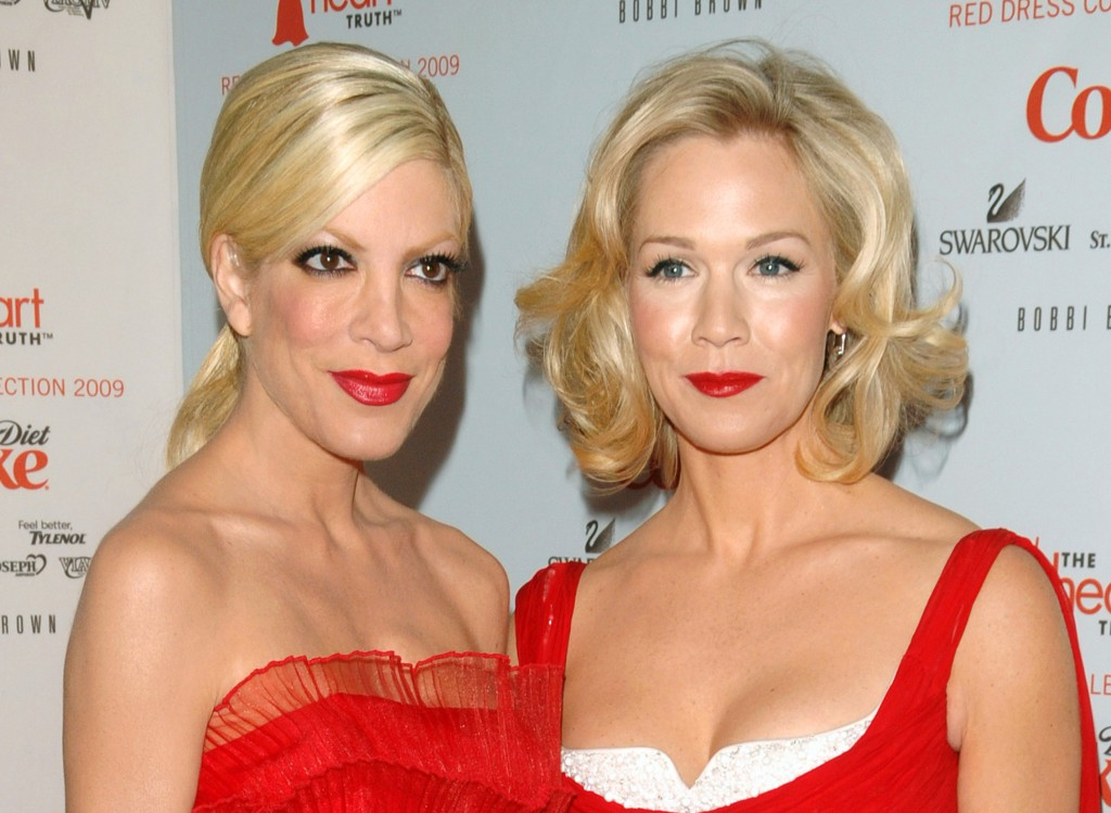 "Actors Tori Spelling, left, and Jennie Garth will co-star and executive produce the new ABC Family series ""Mystery Girls."""
