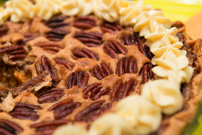 Liza Bonnell's pumpkin pecan pie with bourbon cream won second place at the 2013 Damariscotta Pumpkinfest dessert contest.