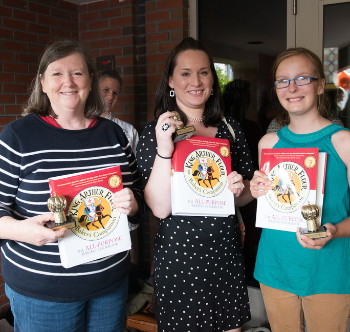 Winners of the 2013 Damariscotta Pumpkinfest Dessert Contest, from left: Tyrrell Hunter, third place; Liza Bonnell, second place; Emma Goltz, first place.
