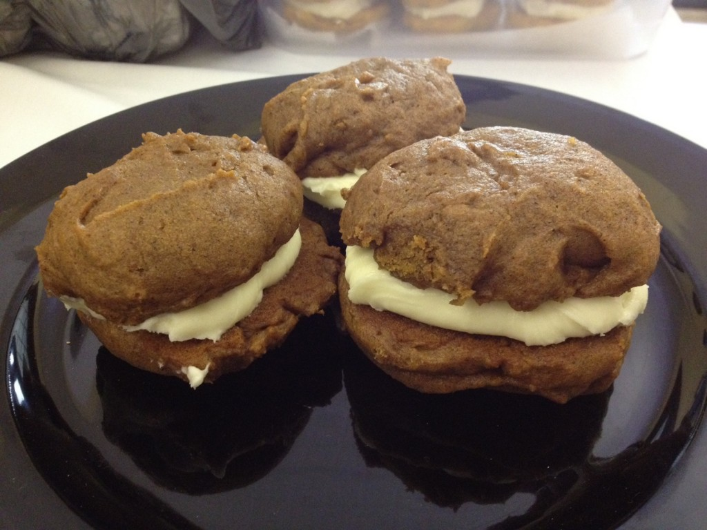 Maegan Burke's pumpkin whoopie pies won second place in the 2013 dessert contest at Seashore Trolley Museum.