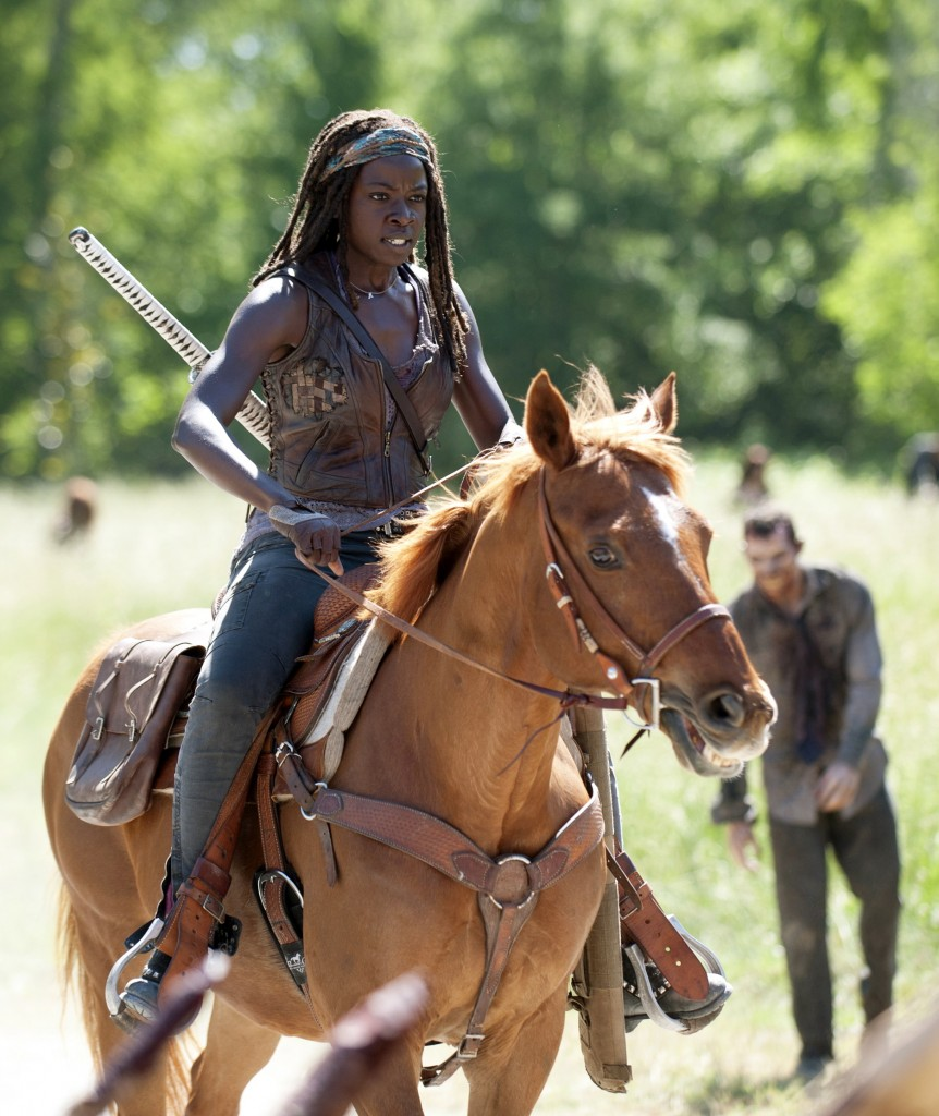 Danai Gurira as Michonne.