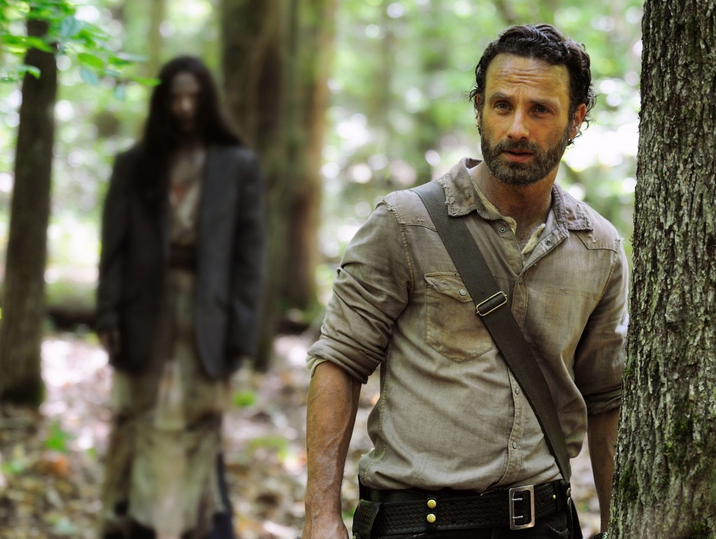 "Andrew Lincoln as Rick Grimes in a scene from the Season 4 premiere of ""The Walking Dead."" The AMC series returned for its fourth season last weekend with its biggest audience ever."