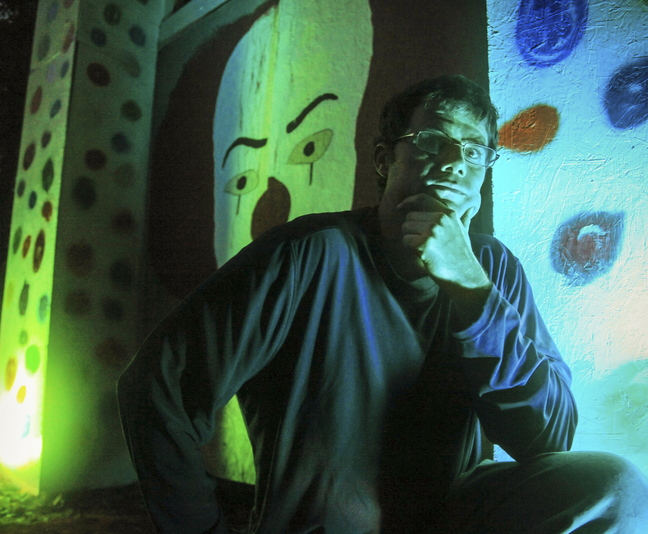 "Steve Workman of Kittery is the creator behind ""Night Terrors,"" a haunted walk now being held at Take Flight aerial adventures on Route 1 in Kittery."