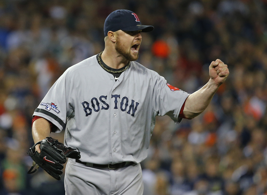 Jon Lester hadn't won an American League Championship Series game for the Boston Red Sox. Not this year, not against Tampa Bay in 2008. But that changed Thursday night when he allowed two runs in 5 innings, then relied on the bullpen to beat the Detrot Tigers, 4-3.