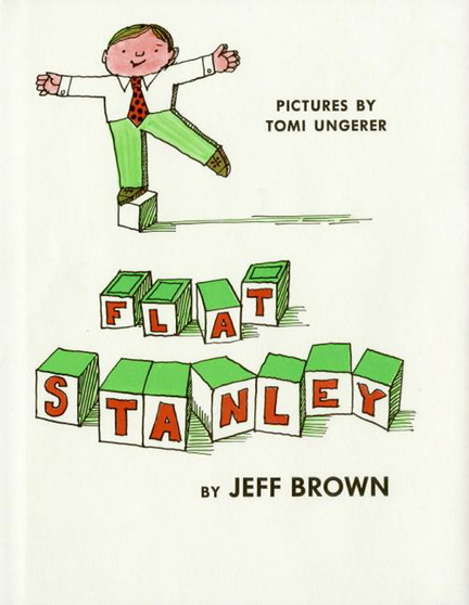 "Ungerer's cover for the beloved children's book ""Flat Stanley."""