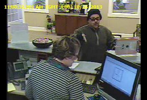 The Sanford Police are searching for the man who robbed the Ocean Communities Federal Credit Union at 48 Alfred Rd. in Sanford at 11:02 a.m. Saturday.