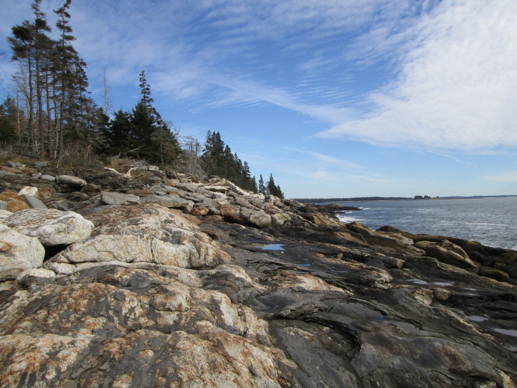 Beautiful Muscongus Bay beckons hikers any time of the year, but an autumn walk can be especially uplifting.