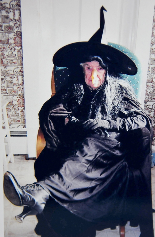 "Tradition: Leola Roberts dressed as ""Eldora"" in 2010."