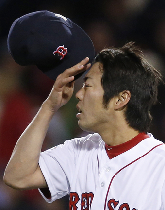 Koji Uehara wasn't in a close-the-game situation, but he needed the work and pitched a scoreless ninth inning for the Red Sox.