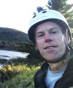 A self-portrait by Staff Writer Glenn Jordan during his journey along the vehicle-free Park Loop Road in Acadia National Park on Oct. 3. While Jordan's roller-blading in the closed park was undoubtedly fun, it also added to the workload of the skeleton crew of rangers there, a reader says.