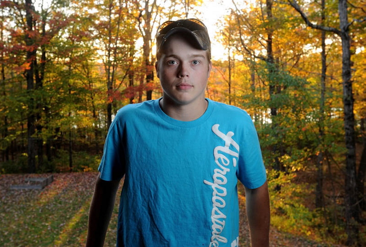 Damon Haggan, 18, of Belgrade was diagnosed with mesothelioma in May. He plans to marry his girlfriend of two years in November.