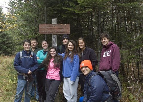 The Oxford Hills outing club went door to door at the school last year, looking for an advisor. Now it's an extremely active group that goes on outings held by Teens to Trails..
