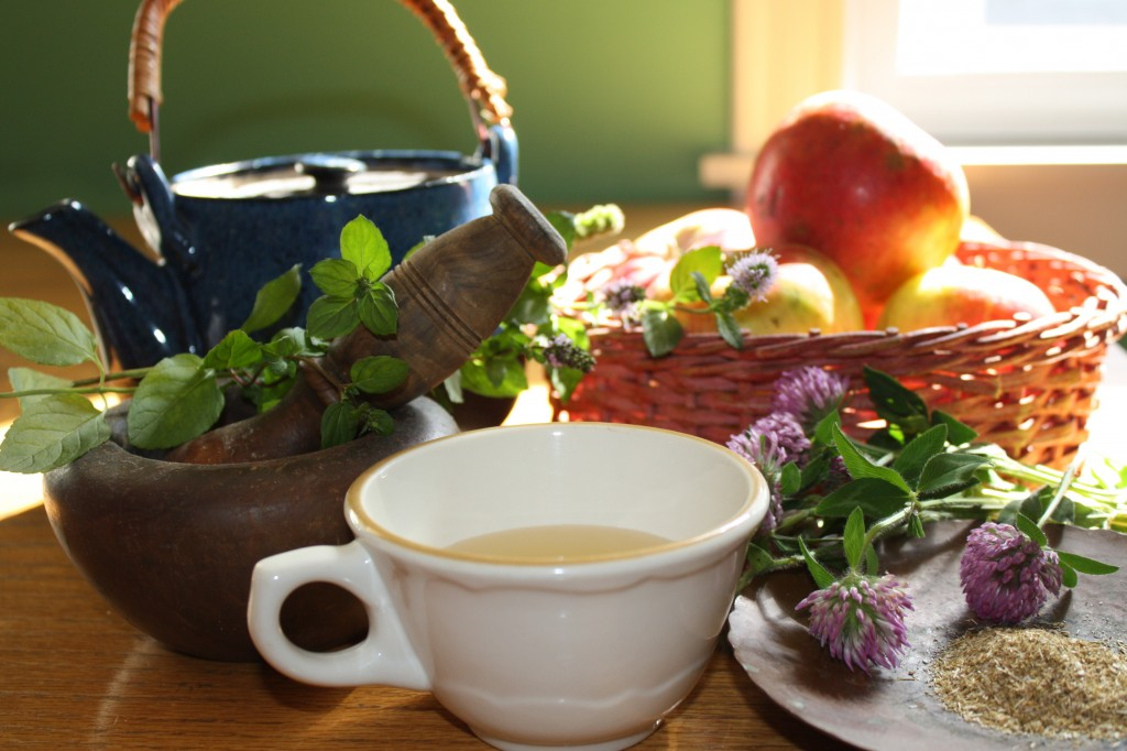 Some of the plants Wiccans might use at this time of year to brew a magical tea include apples, clover, chamomile and mint.