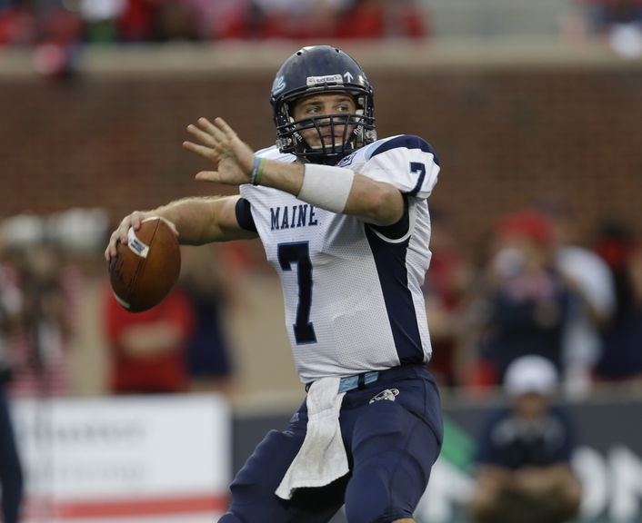 """Marcus Wasilewski has been """"the stabilizing factor"""" in Maine's football success this season, said Coach Jack Cosgrove. The senior hopes to lead the 5-1 Black Bears back to postseason play."""