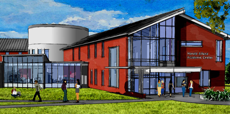 The Harold Alfond Academic Center on the Thomas College campus in Waterville is scheduled to be finished by August 2014.