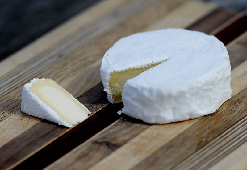 Winter Hill's Frost Gully Farmstead Cheese, a bloomy rind cheese.