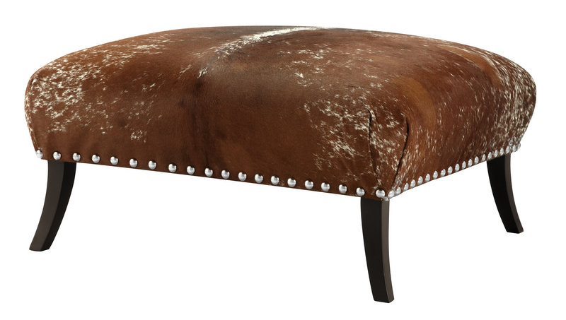 On tables, chairs, ottomans and more, rivets and other fasteners are making a comeback.