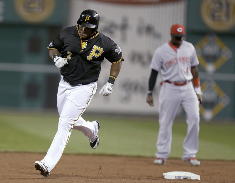 Marlon Byrd had never reached the post-season in his career until Tuesday night, and wouldn't you know, his first at-bat produced a home run for the Pirates.