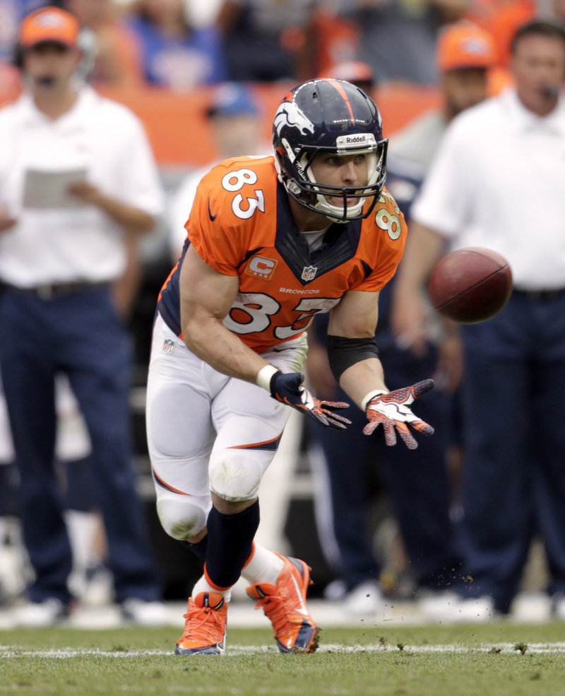 The face is familiar and the ability to catch passes is familiar, but now Wes Welker is doing for Denver what he did for the Patriots – get open, time and again.