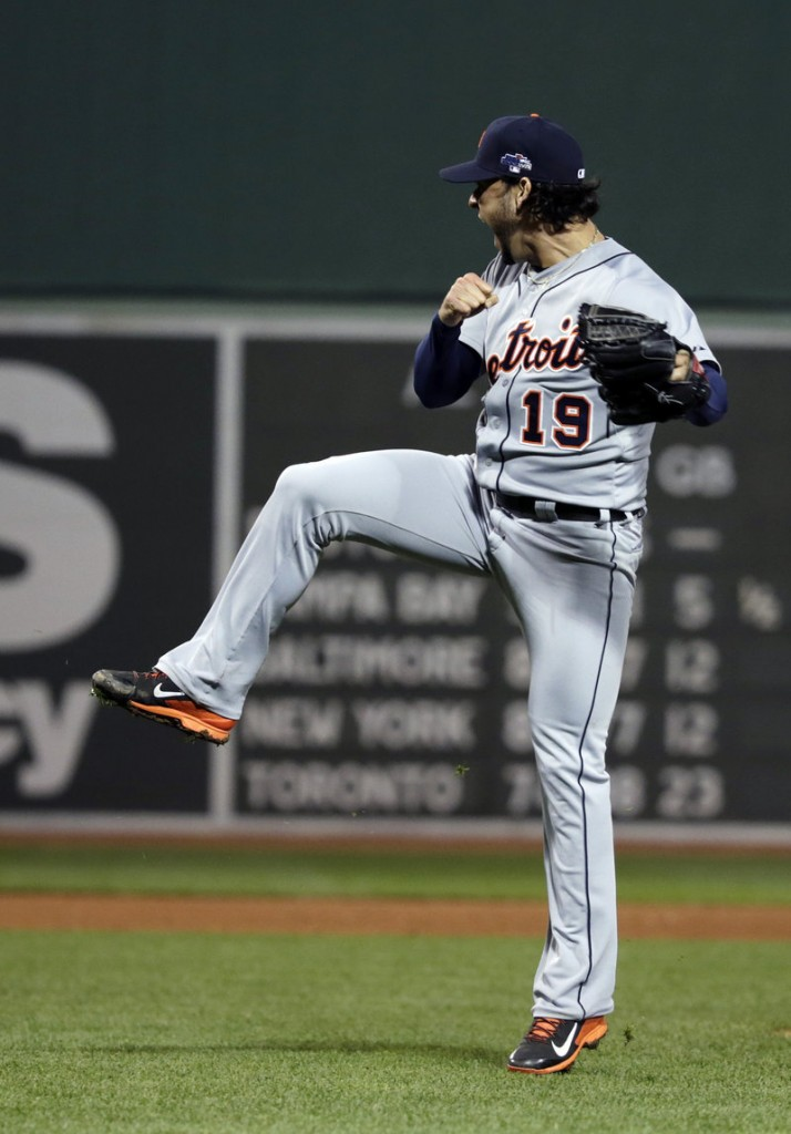 Anibal Sanchez of the Detroit Tigers had trouble with command but was tough when he had to be, including a Stephen Drew strikeout to end the sixth with the bases full.