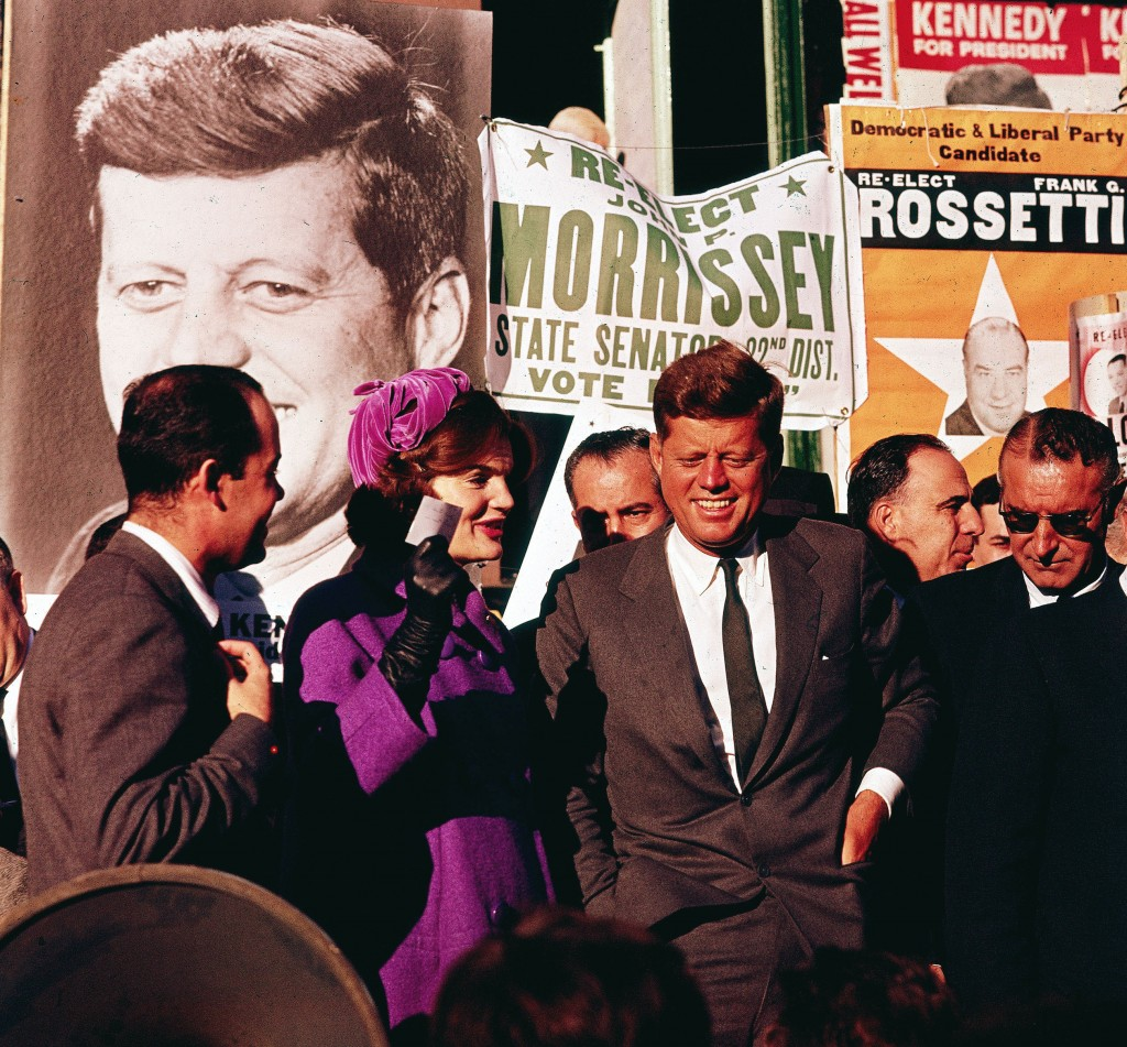 "In this October 1960 file photo Sen. John F. Kennedy and his wife, Jacqueline Kennedy, campaign in New York. The Kennedy image, the ""mystique"" that attracts tourists and historians alike, did not begin with his presidency and is in no danger of ending 50 years after his death. Its journey has been uneven, but resilient - a young and still-evolving politician whose name was sanctified by his assassination, upended by discoveries of womanizing, hidden health problems and political intrigue, and forgiven in numerous polls that place JFK among the most beloved of former presidents."