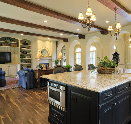A great room that's a hub for family life and entertaining is first on home buyers' lists of priorities.