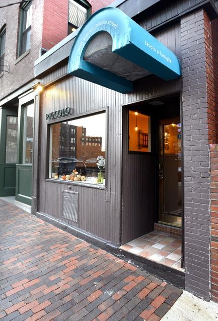 Piccolo restaurant at 111 Middle St. in Portland.