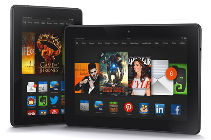Two versions of the Kindle Fire
