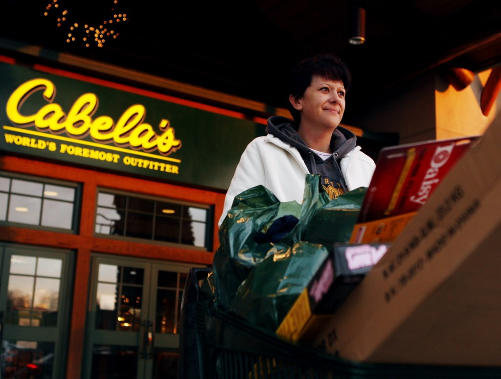 Outdoors retailer Cabela's is content to keep its stores closed on Thanksgiving to give its staff a day of rest. When its Hazelwood, Mo., store opens at 5 a.m. on Black Friday, it fills up with shoppers like Julie Hodges of Fenton, Mo.