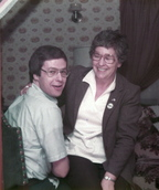 Rep. Mike Michaud and his mother, Jean Michaud, who died Wednesday, in an undated photo.