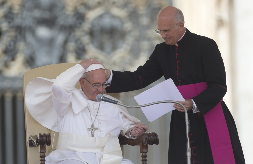 Pope Francis announced Thursday that Monsignor Alfred Xuereb, right, will look into the work of two commissions assigned to investigate the finances of the Vatican.