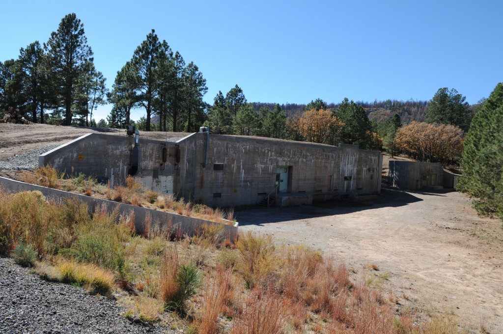 "(AP Photo/Los Alamos National Laboratory) This undated image provided by the Los Alamos National Laboratory shows the ""gun site"" is where the bomb that was dropped on Hiroshima was assembled. Tucked away in one of northern New Mexico's pristine mountain canyons is this old cabin that was the birthplace not of a famous person, but a top-secret mission that forever changed the world. The iconic areas scattered in and around the modern day Los Alamos National Laboratory are being proposed as sites for a new national park commemorating the Manhattan Project."