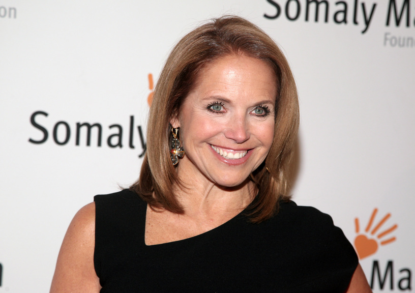 "This Oct. 23, 2013 file photo shows TV host Katie Couric at the Somaly Mam Foundation Gala in New York. Couric is joining Yahoo to anchor a news program for the Internet company as it tries to expand its audience and sell more advertising. An announcement on Monday, Nov. 25, confirms recent published reports that Couric would diversify into online video programming after spending decades in broadcast television as a talk-show host and news anchor. The 56-year-old Couric will continue to host her daytime talk show, ""Katie,"" on ABC even after she becomes Yahoo's ""global anchor"" beginning next year."