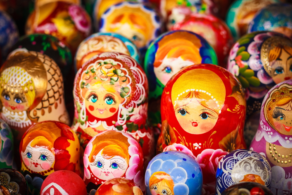 Collecting items like Russian dolls may not appeal, but consider one grouped with a great photograph from a trip to Moscow, along with other travel ephemera. Keepsake boxes and mobiles are alternative ways to display knickknacks.