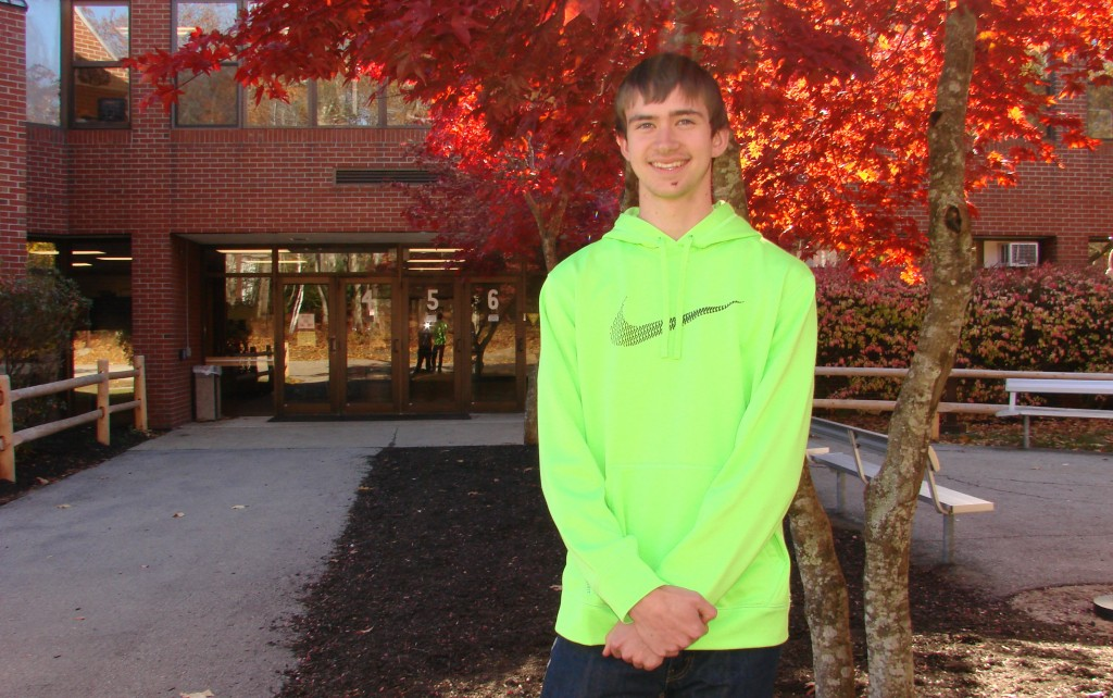 Kyle O'Brien, a Wells High School senior, is a semifinalist in the 2014 National Merit Scholarship Program. He is also an athlete who serves as captain of the track team.