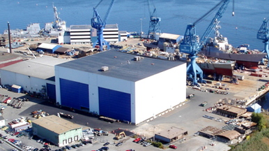 The existing BIW hall has two outfitting bays.