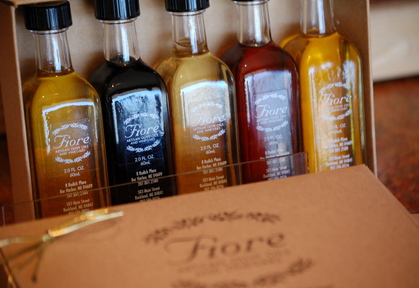 Fiore's olive oils are imported from all over the world. They are unfiltered, first-press oils rich in antioxidants.