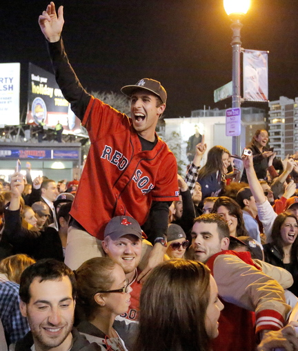 The party nobody expected, the season nobody expected, all came together first in Fenway Park, then on the streets around the ballpark Wednesday night as the Red Sox captured their third World Series title in 10 seasons.