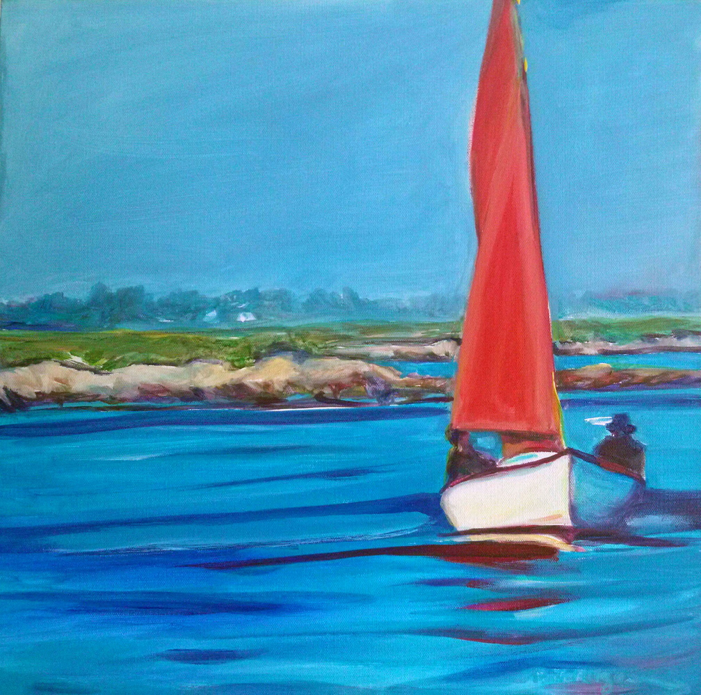 """Casco Bay Red"" by Patricia Rizzo."