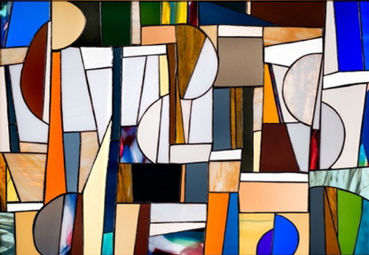 Stained glass by Maya Travaglia.