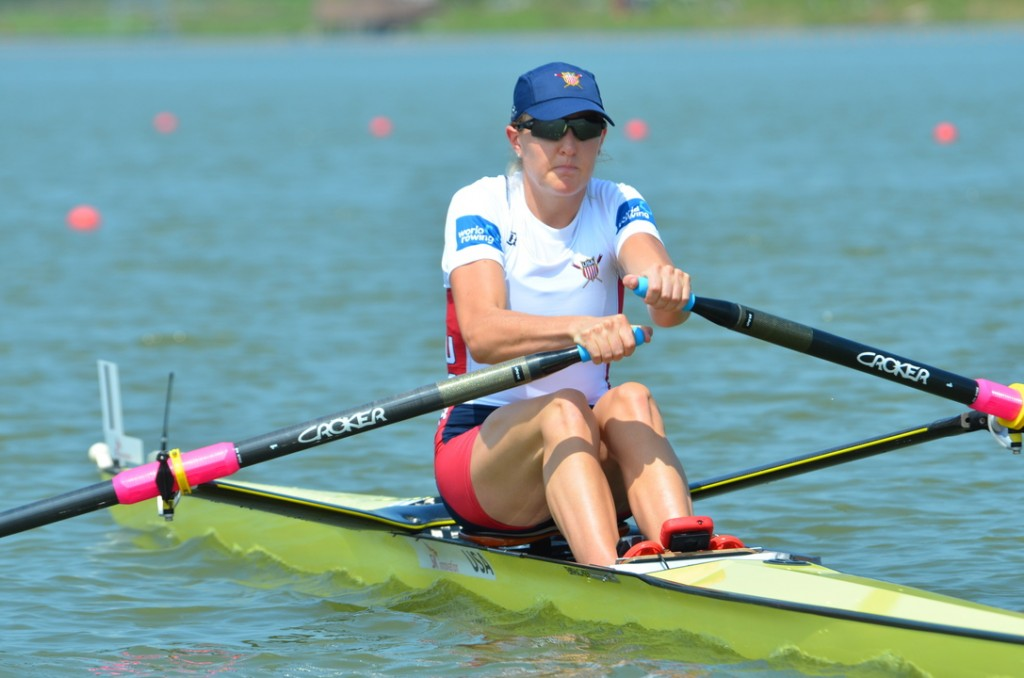 Previous Summer Olympics found Eleanor Logan working with seven teammates, but she's preparing to row it alone come 2016.