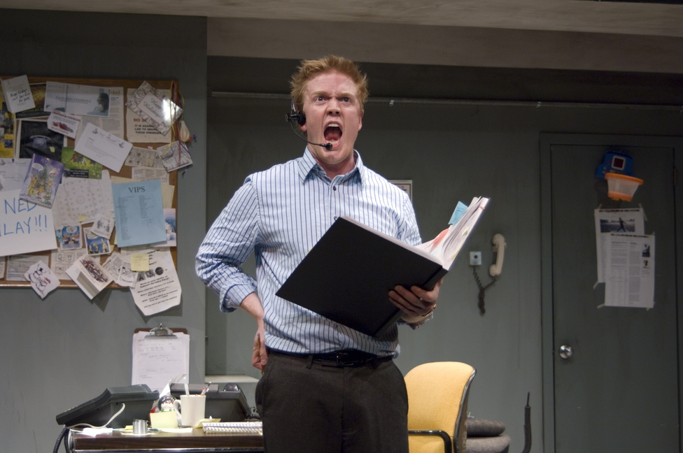 "Dustin Tucker in Portland Stage Company's ""Fully Committed"""