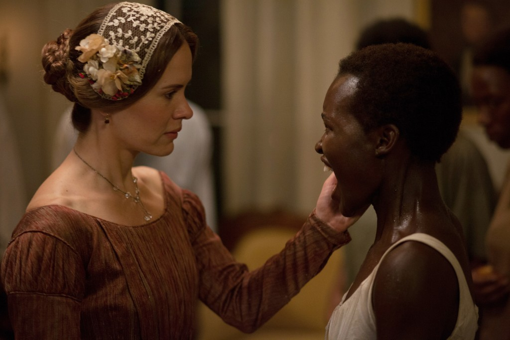 Sarah Paulson plays Mistress Epps, the wife of the plantation owner, and Lupita Nyong'o portrays the young slave Patsey.