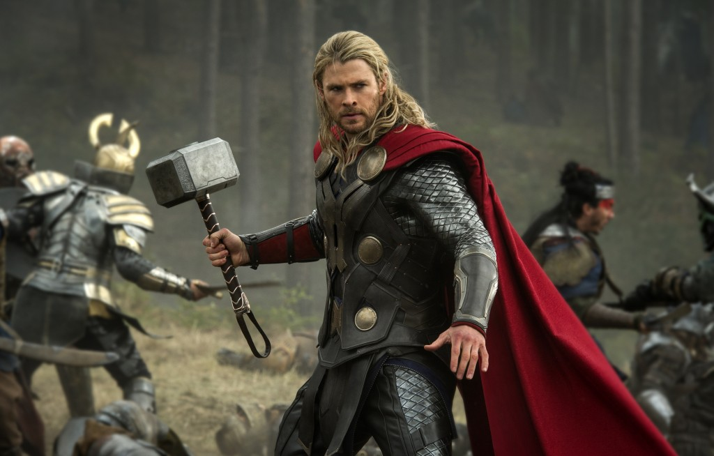 "Photo released by Walt Disney Studios and Marvel shows Chris Hemsworth in a scene from ""Thor: The Dark World."""