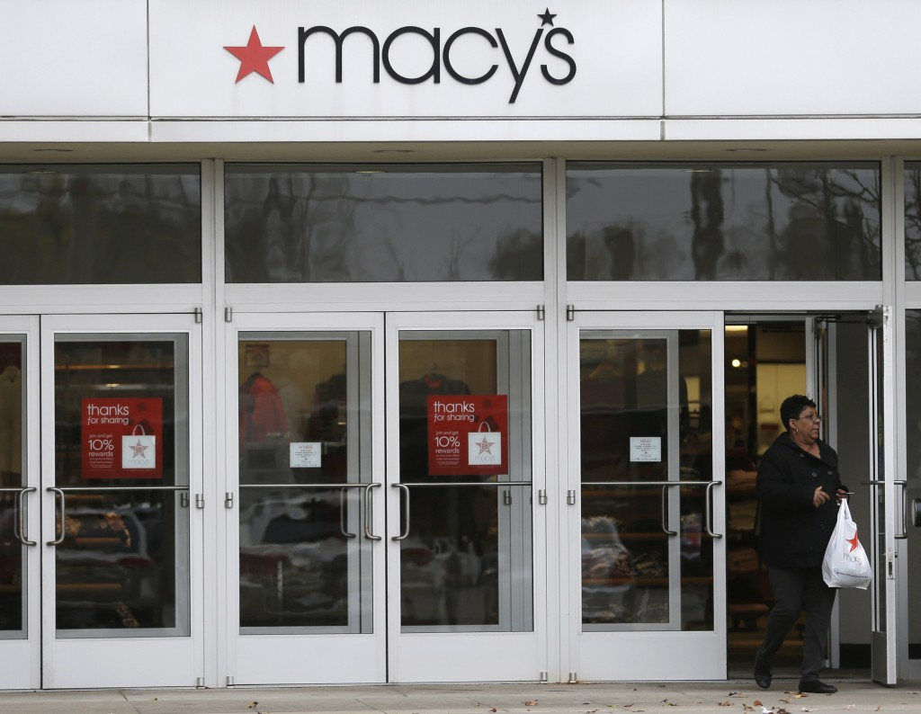 For the quarter ended Nov. 2, Macy's earned $177 million, or 47 cents per share. That compares with $145 million, or 36 cents per share, a year ago.