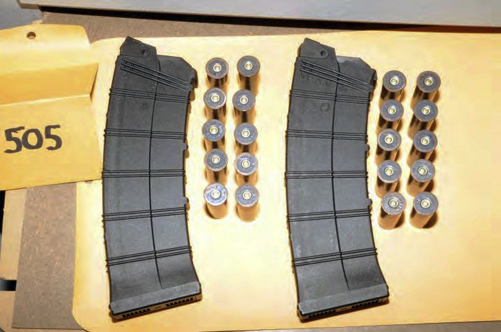 "This image contained in the ""Appendix to Report on the Shootings at Sandy Hook Elementary School, Newtown, Connecticut On December 14, 2012"" and released Monday, Nov. 25, 2013, by the Danbury, Conn., State's Attorney shows ammunition found at Sandy Hook Elementary School in Newtown, Conn. Adam Lanza opened fire inside the school killing 20 first-graders and six educators before killing himself as police arrived"